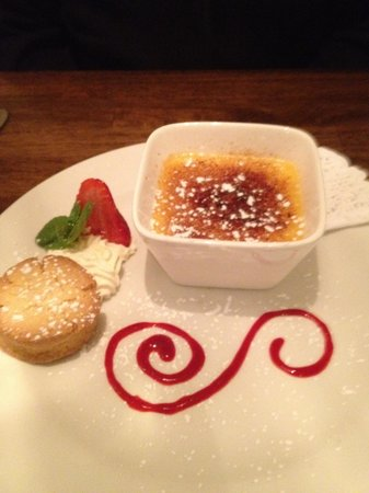 Sargasso: My Mum's creme brulee , with a wee shortbread biscuit
