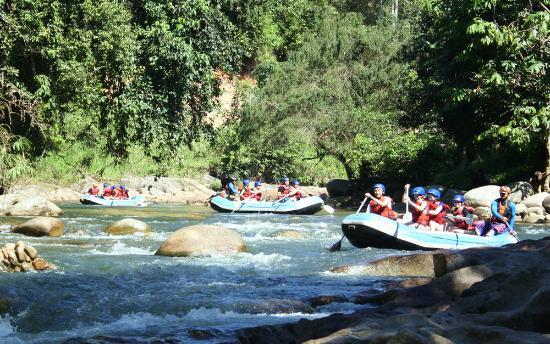 Gopeng Rainforest Resort: White water rafting.