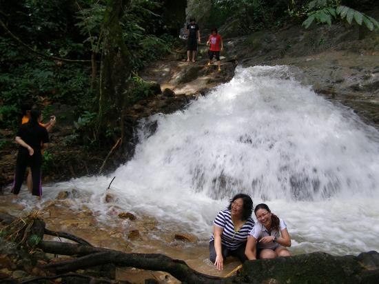 Gopeng Rainforest Resort: Having a great time at the waterfall.