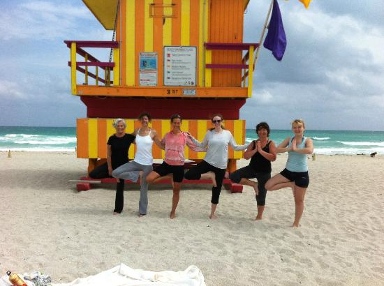 Beach Yoga @ 3rd Street: Miami Beach Trees