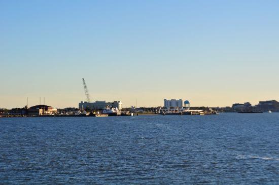 Galveston - Port Bolivar Ferry: Fährhafen von Galveston