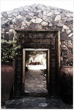 Korakia Pensione: Entrance