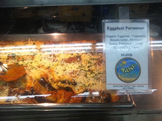 Mana Foods : This looked amazing, Eggplant Parmesan