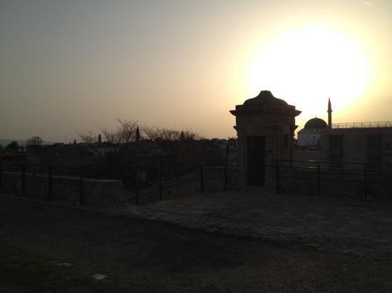 Akkotel: sunset over Akko
