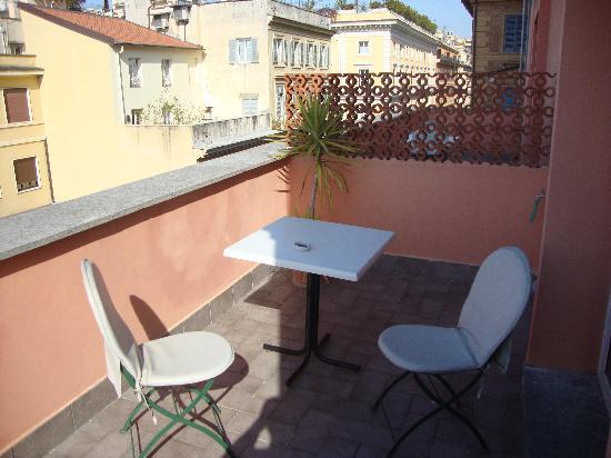 Hotel Caprice: terrasse