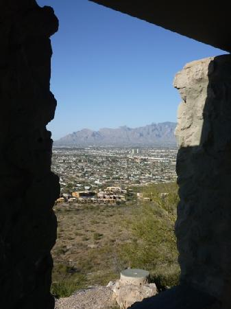 "A Mountain (Sentinel Peak) : view from the shelter at ""A"" mountain"