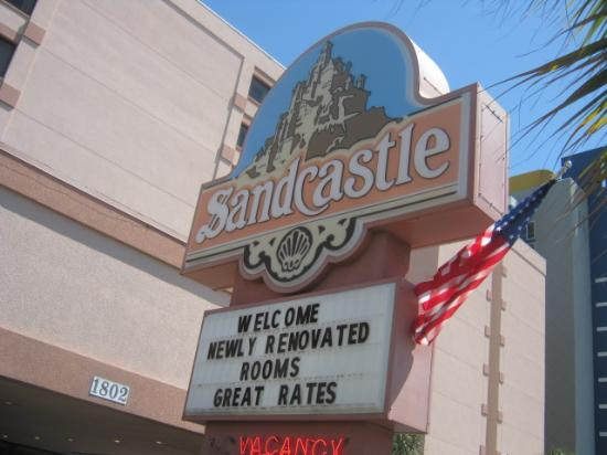 Sandcastle Oceanfront Resort At The Pavilion Sign Always Says Same Thing