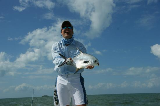 Fisherman Fishing Lodge: Finally mi Palometa