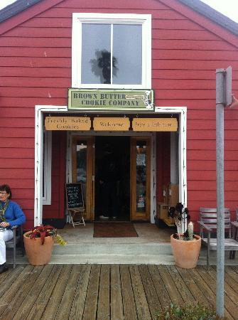 Brown Butter Cookie Company: Brown Butter Cookies in a little red schoolhouse.
