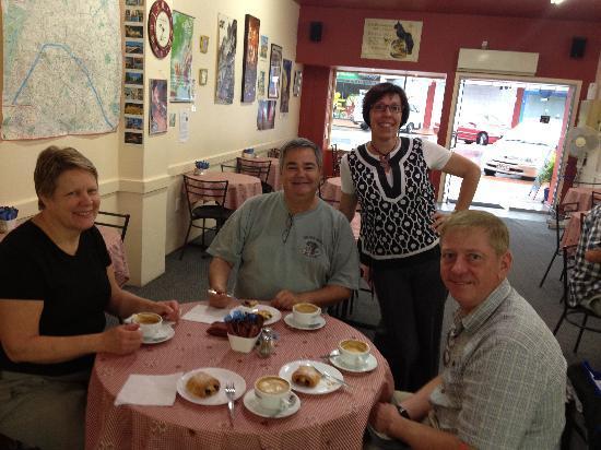 Le Café de Paris: always a friendly greeting from Valerie