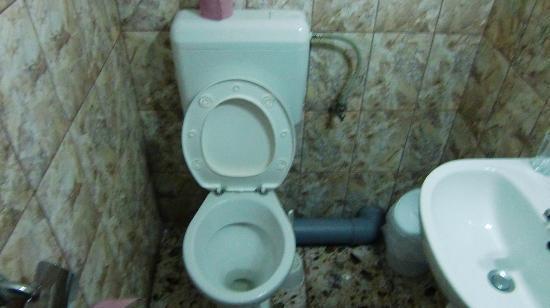 Pensiunea Casa Samurai: トイレと洗面台