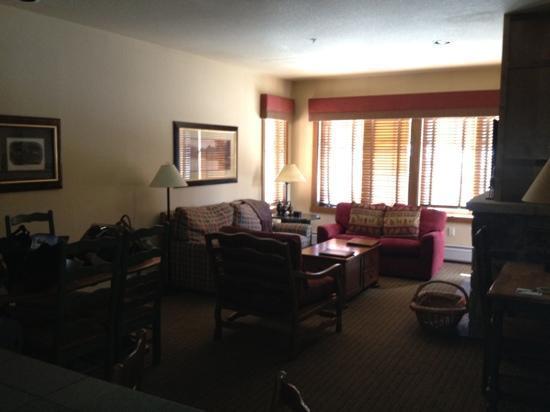 Hyatt Residence Club Breckenridge, Main Street Station: Hyatt Main Street Station - Living Room in our 2Bed/2Bath Unit