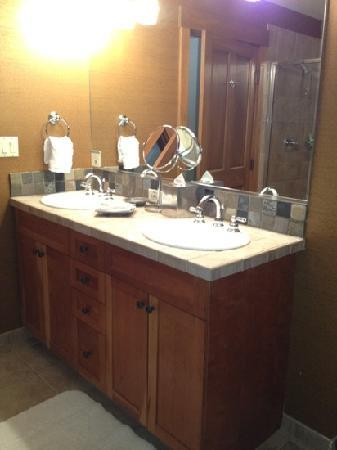 Hyatt Main Street Station - Master Bathroom Sink in our 2Bed/2Bath Unit