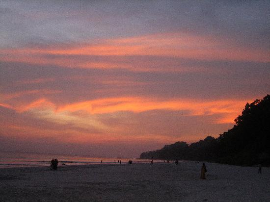 Radhanagar Beach: Sunset at Radhanagar-1