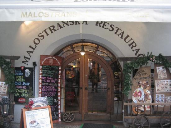 Malostranska Restaurant: portada
