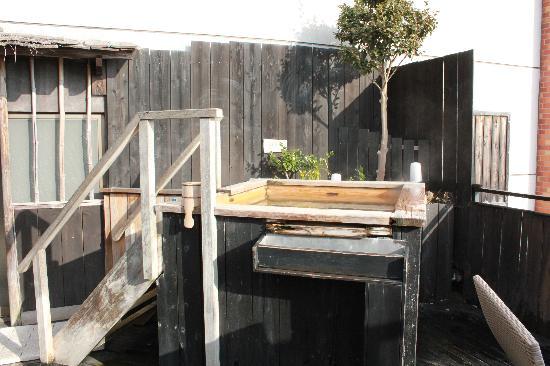 La Vista Izusan : 貸切の露天風呂