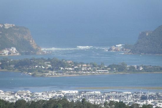 The Knysna Belle: A beautiful sight taken from the mountains with leisure Island and the Knysna Heads in the dista