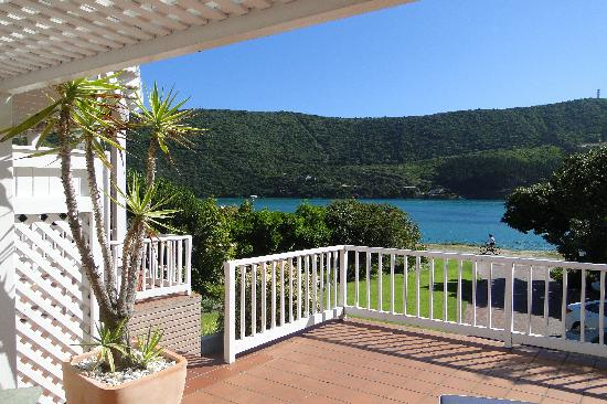 The Knysna Belle: taken from the balcony of our front lagoon facing Emu room
