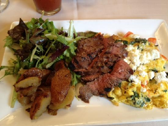 Colterra Food & Wine: Grilled never never steak onglet and eggs