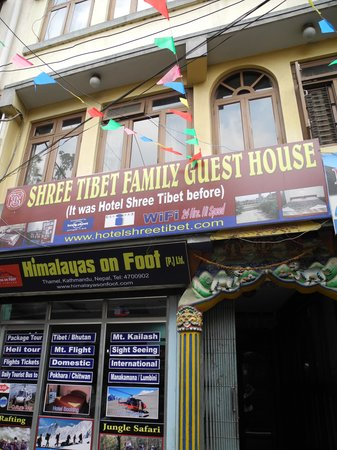 Shree Tibet Family Guest House: In front of this hotel