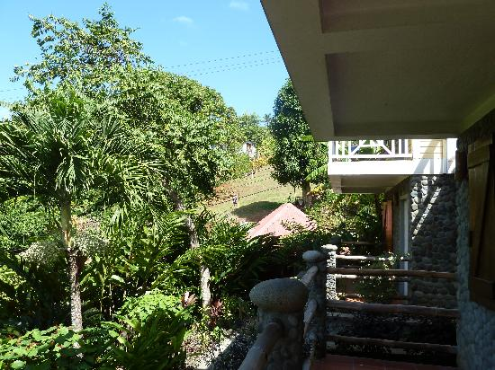 Calibishie Lodges: Balcony view