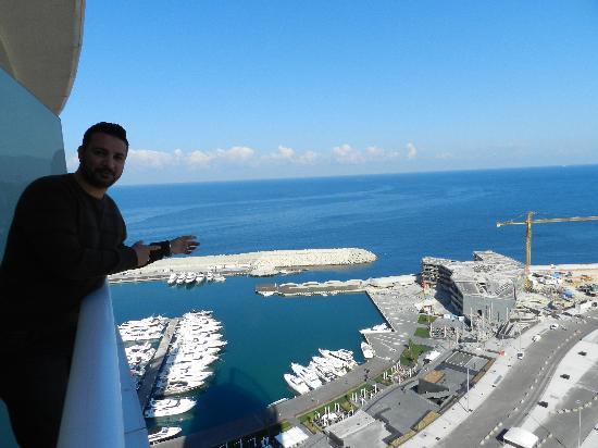 Four Seasons Hotel Beirut: the view from the balcony