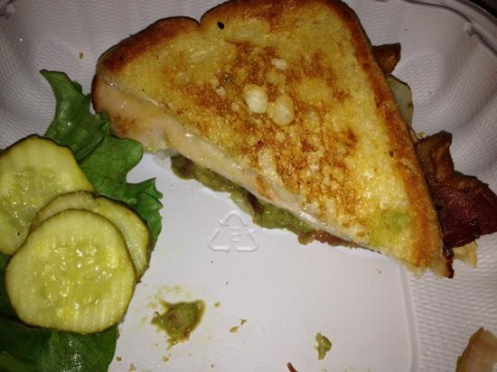 Quandary Grille: Turkey Melt with Avocado, Grilled Onions, & Bacon
