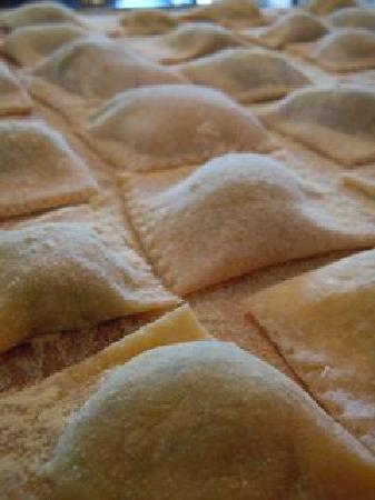 Convivio Rome Italian One Day Cooking Holidays : ravioli with spinach and fresh local ricotta