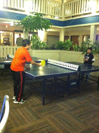 Best Western Plus Dubuque Hotel & Conference Center: The kids enjoyed playing Ping-Pong and pool