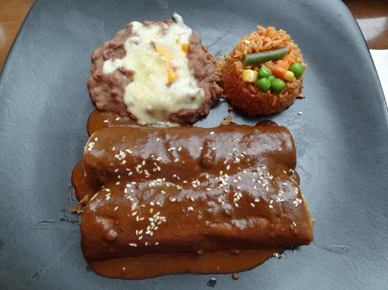 Hacienda-Mexican Bar and Grill: Enchiladas sauce mole