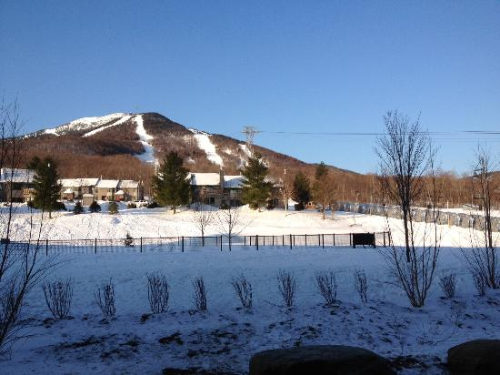 Jay Peak Resort: view of the mountain from the back of the hotel