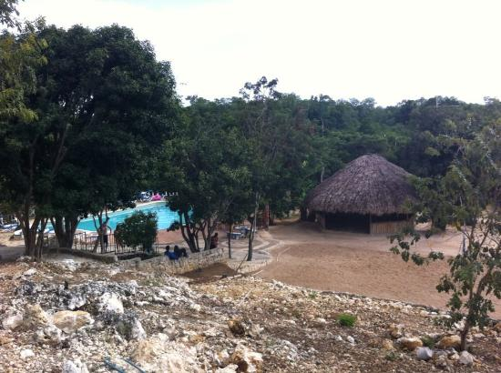 Little Bay, Jamaica: a view from my room looking down to the pool,bar, and mineral spring