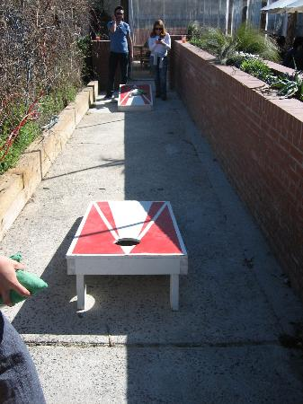 Geer Street Garden: Corn Hole game for passing time.  Better with beer.