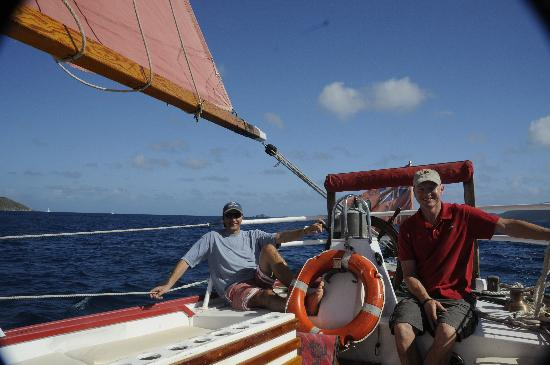 Spirit of Anegada : Helping to steer
