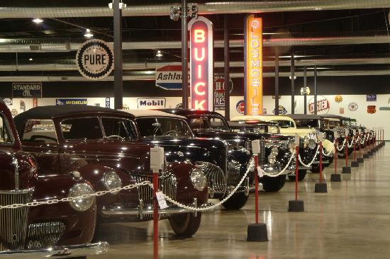 Tupelo Automobile Museum: Automobiles are displayed in chronological order beginning with an 1886 Benz.