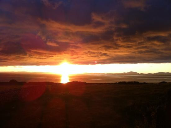 Gwynfryn Farm Cottages and B&B : sunset on the Cambrian Coast...