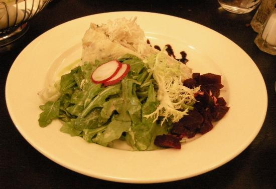 Blaue Gans : Smoked Trout Palatschinken Torte Salad