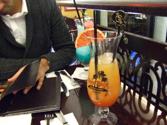 Hotel Ambasciata: a massive cocktail at hard rock cafe in venice and you even buy the glass as well