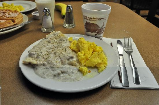 Comfort Inn: Hot breakfast, including some of the best scrambled eggs we've ever had at a hotel, are availabl