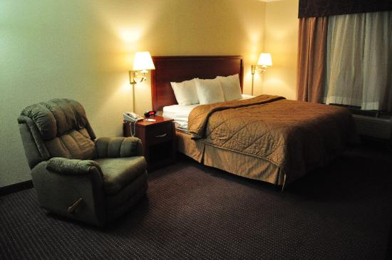 Comfort Inn: Our single king room was big enough for two beds.