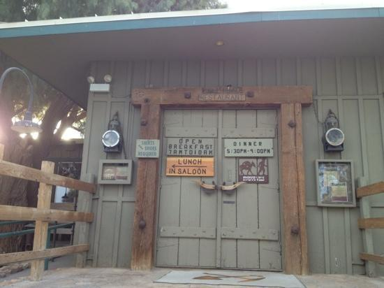 at Stovepipe Wells,the Toll Road Restaurant