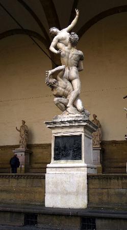 Plaza de la Señoría: the Rape of Sabine statue