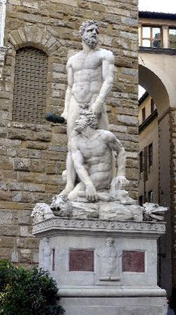 hercules and cacus statue picture of piazza della