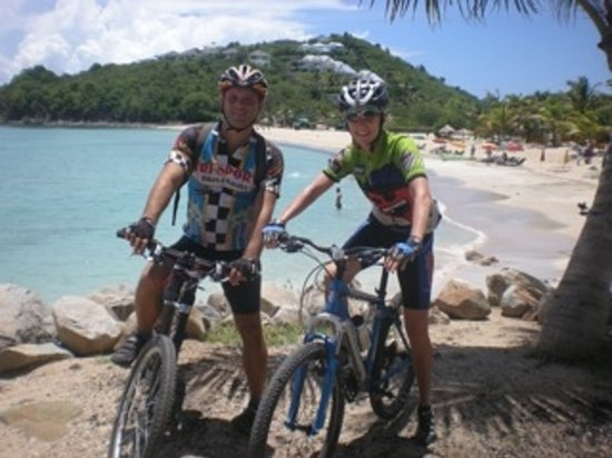 Tri-Sport Eco Tours: Our guide Fred at Friar's Bay Beach.