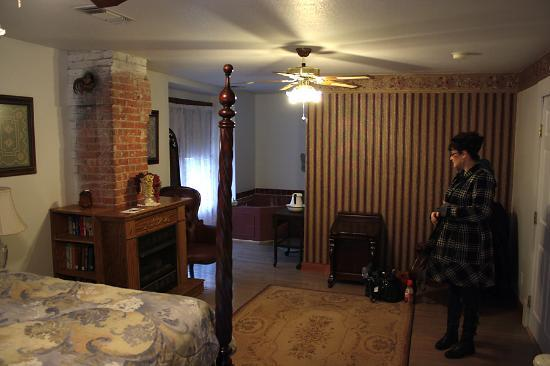Locust Street Inn: Looking toward the hot-tub from the corner of the room.