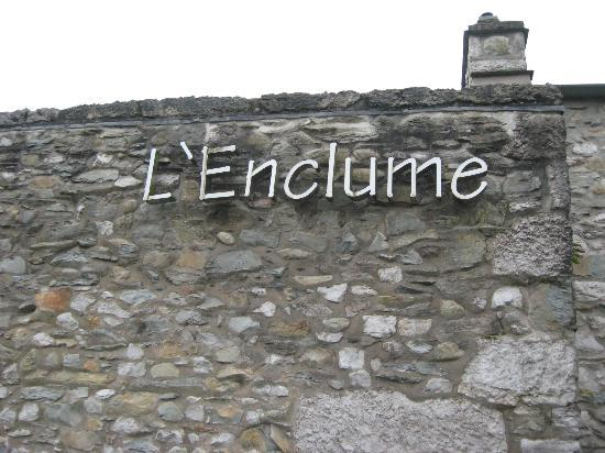 L'Enclume: The outside sign
