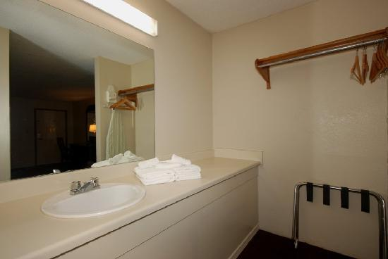 Country Hearth Inn & Suites Atlanta / Marietta and Banquet Hall: Sink & Closet Area