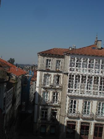 PR Badalada: Vista de la calle en la que está la pensión, desde la habitación