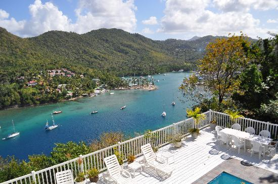 Marigot Bay, St. Lucia: The View from our room