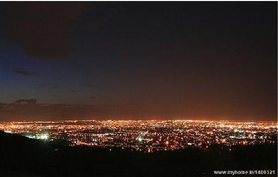 Night view from Bearna Rua Lodge